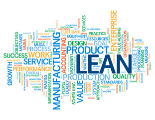 """LEAN"" Tag Cloud (efficiency smart quality process improvement)"