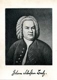 Portrait of german composer Johann Sebastian Bach