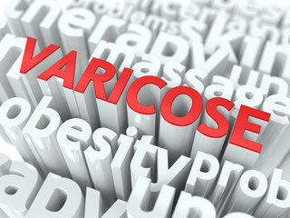 Varicose. The Wordcloud Medical Concept.
