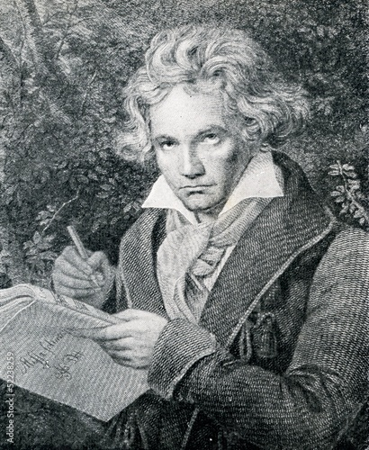 Portrait of german composer Beethoven