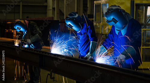 Welder in a factory