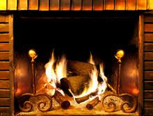 Détail de feu et la combustion du bois