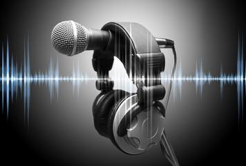 concepto de musica y grabacion en estudio