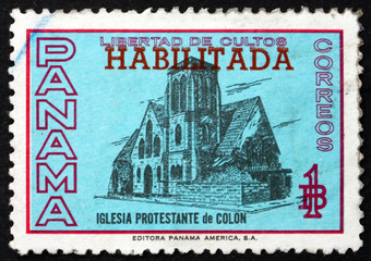 Postage stamp Panama 1964 Protestant Church of Colon