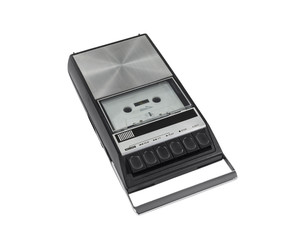 Vintage Cassette Tape Recorder Isolated