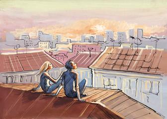 city roofs romance