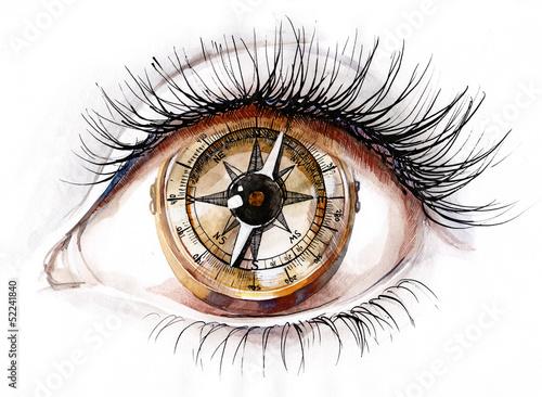 Leinwandbild Motiv human compass
