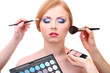 Portrait of beautiful young woman with making makeup, isolated