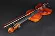 Classical violin on black background