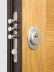 Wooden doors with lock