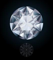 Diamond jewel, vector illustration