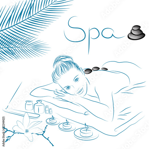 woman lying for spa  massage