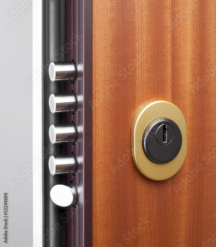 Wooden doors with lock 1