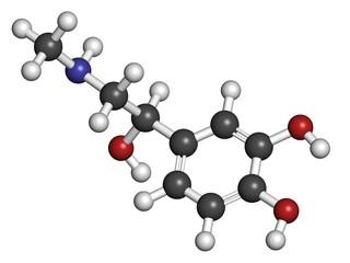 Adrenaline (epinephrine) hormone and neurotransmitter, molecular