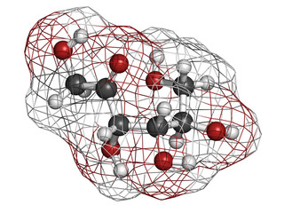 Tagatose sweetener, molecular model