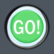 Go Car Start Green Button Word Move Forward