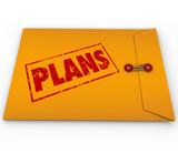 Plans Secret Confidential Envelope Covert Operations poster