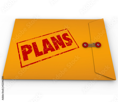 Plans Secret Confidential Envelope Covert Operations