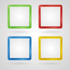Vector frames set