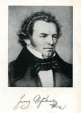 Portrait of austrian composer Schubert