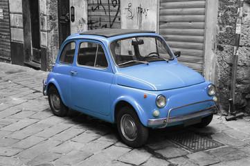 Blu vintage car