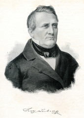 Portrait of german composer Lachner