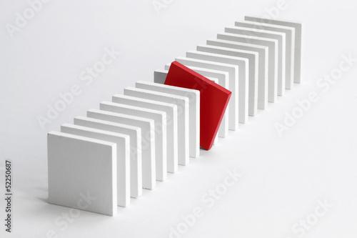 Leinwandbild Motiv Platten / Querdenker
