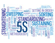 """5S"" Tag Cloud (organization methodology lean process workplace)"