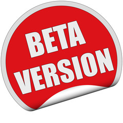 Sticker rot cu BETA VERSION