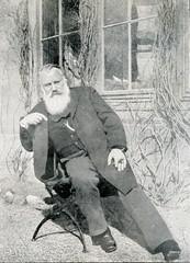 Portrait of german composer Brahms