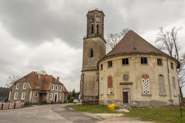 Outdoor of old Evangelical church - Zeliszow, Poland.I