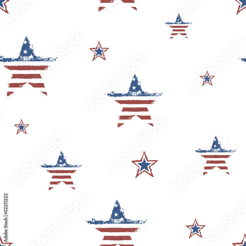 Seamless patriotic ornament for Fourth July Celebration. Vector,