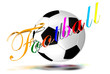 Football 3D colorful letters