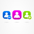 Social network people icon