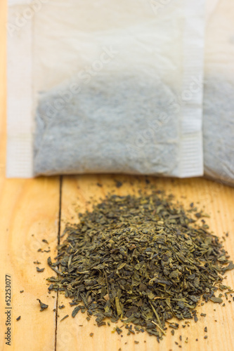 Green tea from tea bag