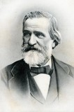 Portrait of italian composer Giuseppe Verdi