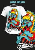 tričko tisk komediální dívka