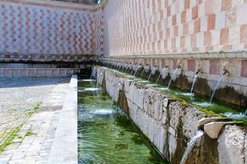 Fontana delle 99 Cannelle, L'Aquila, Italy