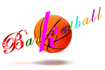 Basketball 3D colorful letters