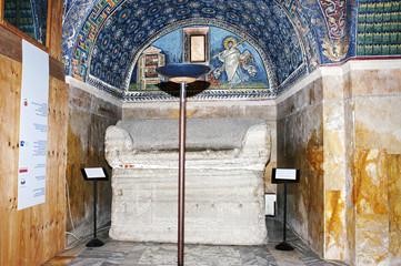 Inside of Mausoleum of Galla Placidia, Ravenna, Italy