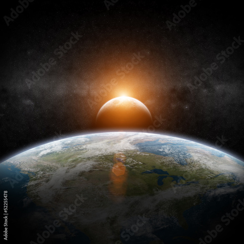 Eclipse of the sun on Planet Earth - 52255478