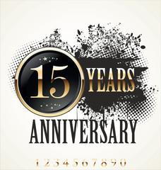 Grunge anniversary background