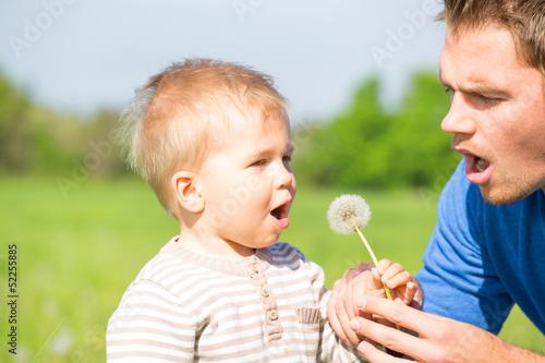 papa und sohn