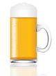 Mug Of Beer Isolated On A Whit...