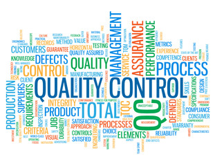 """QUALITY CONTROL"" Tag Cloud (total quality management standards)"