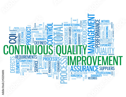"""CONTINUOUS QUALITY IMPROVEMENT"" Tag Cloud (process improvement)"