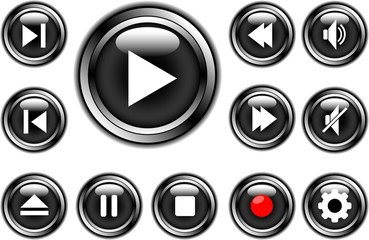 media buttons black 1