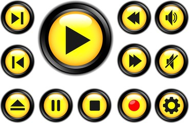media buttons black yellow 1