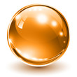 3D glass sphere orange