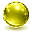 3D glass sphere gold
